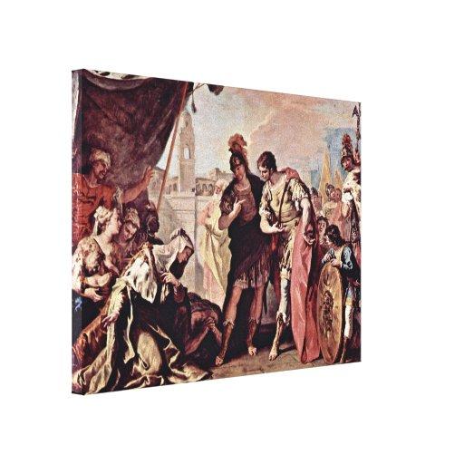 Sebastiano Ricci - Family of Alexander the Great Canvas Print