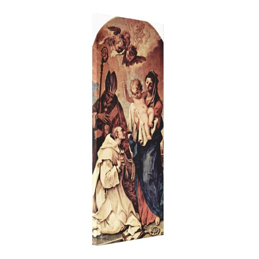 Sebastiano Ricci - Madonna in front of StBruno Stretched Canvas Print