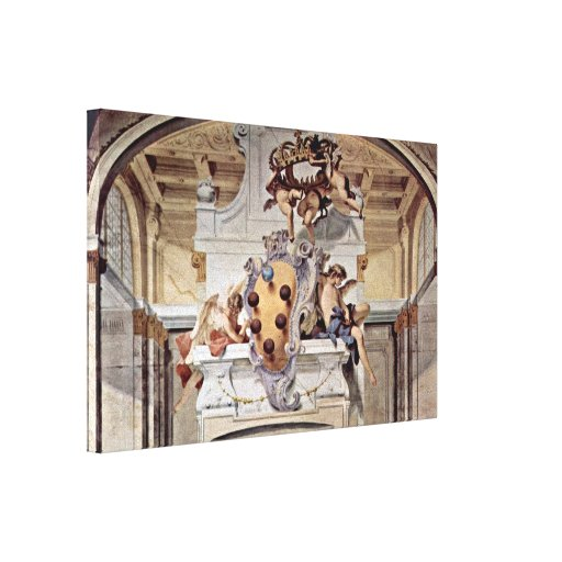 Sebastiano Ricci - Scene of arms of the Medici Gallery Wrapped Canvas