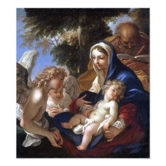 Sebastiano Ricci The Holy Family with Angels Photo Print