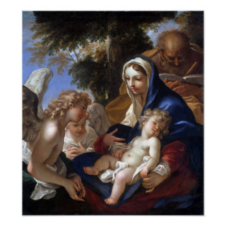 Sebastiano Ricci The Holy Family with Angels Poster