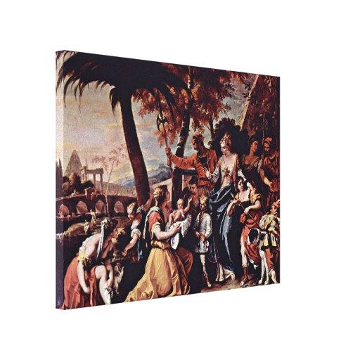 Sebastiano Ricci - The rescue of the Moses boy Gallery Wrap Canvas
