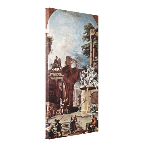 Sebastiano Ricci - Tomb of the Duke Stretched Canvas Prints