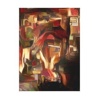 Sebastian's Mind Oil Abstract Canvas Print