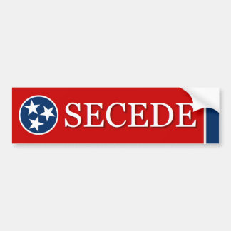 SECEDE Tennessee (TN) bumper sticker