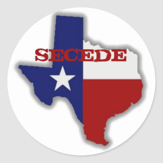 Secede Texas Round Sticker
