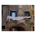 Séchage de blanchisserie à Venise, Italie Posters