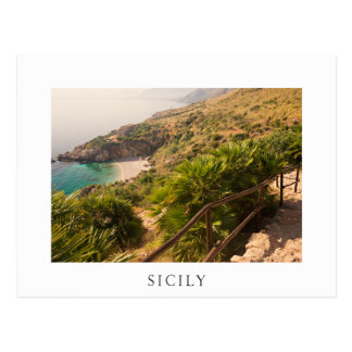 Secluded beach in Lo Zingaro, Sicily Postcard
