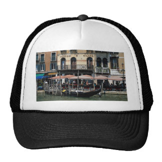 Secluded cafe terrace, Venice, Italy Trucker Hats