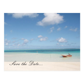 Secluded Island-SAVE THE DATE Postcard
