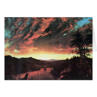 Secluded landscape in the sunset, Frederick Church Card