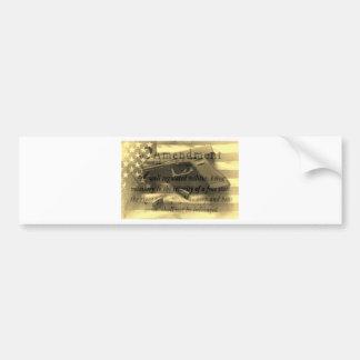 Second Amedment Bumper Sticker