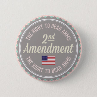 Second Amendment 2 Inch Round Button