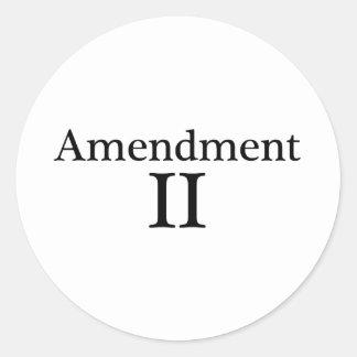 Second Amendment Apparel Round Sticker