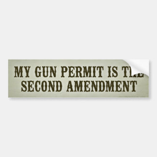 Second Amendment Bumper Sticker