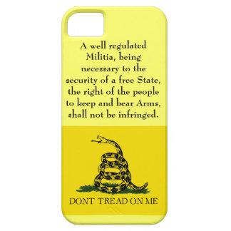 Second Amendment - Don't Tread on Me iPhone 5 Case
