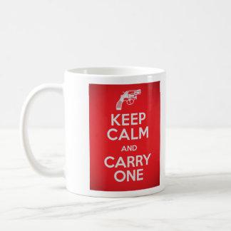 Second Amendment Keep Calm and Carry One Mug