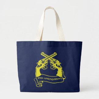 second amendment large tote bag