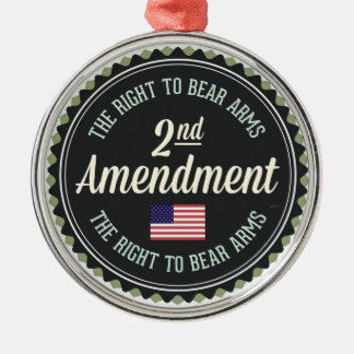 Second Amendment Metal Ornament
