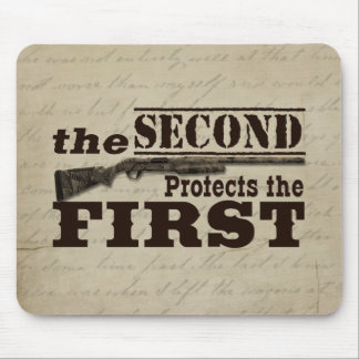 Second Amendment Protects First Amendment Mouse Pad