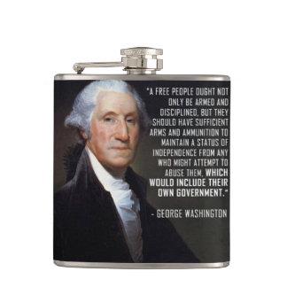 Second Amendment Quote - George Washington Hip Flask