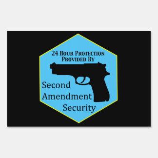 Second Amendment Security Service Sign