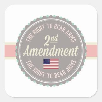 Second Amendment Square Sticker
