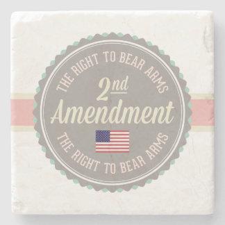 Second Amendment Stone Coaster