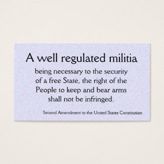 Second Amendment trivia cards