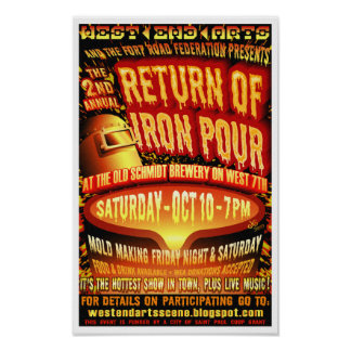 Second Annual West 7th Iron Pour Poster 2009
