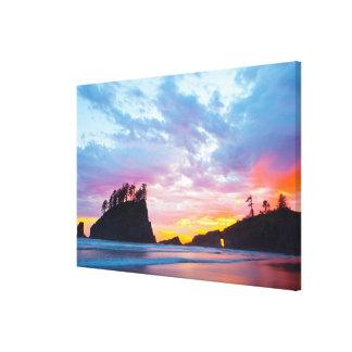 Second Beach at sunset, Washington Canvas Print
