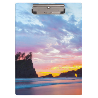 Second Beach at sunset, Washington Clipboards