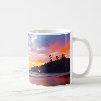 Second Beach at sunset, Washington Coffee Mug