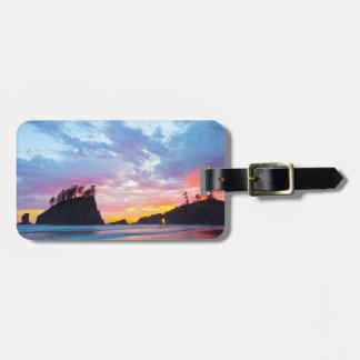Second Beach at sunset, Washington Luggage Tag