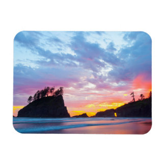 Second Beach at sunset, Washington Rectangular Photo Magnet