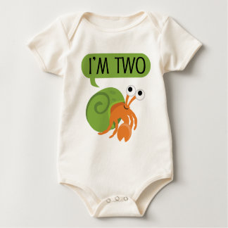 Second Birthday Hermit Crab Baby Bodysuit