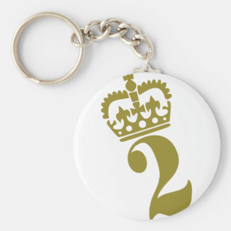Second Birthday - Number – 2 Keychain