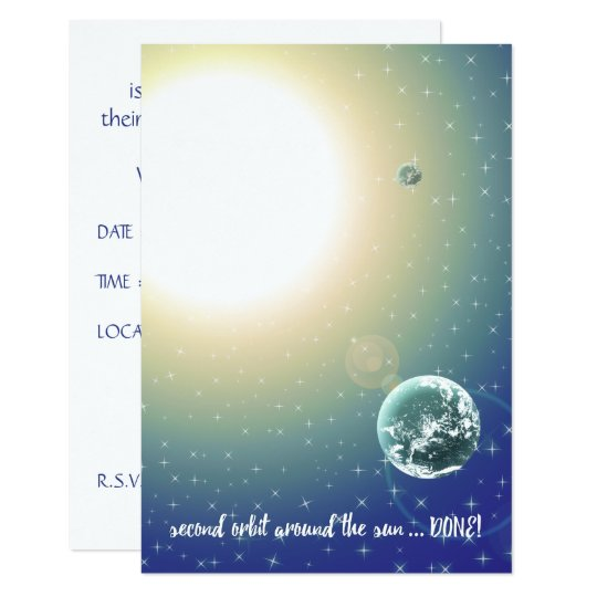 Second Birthday Orbit Around the Sun Card