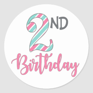 Second Birthday Party Stickers