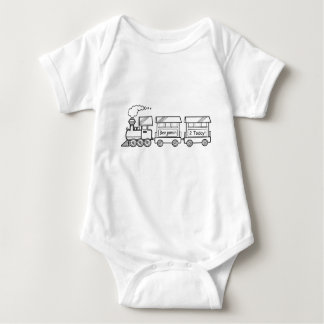 Second Birthday Train Vest with Name Baby Bodysuit