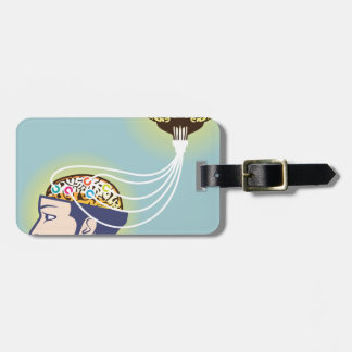 Second Brain Connected Illustration Luggage Tag