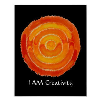 Second Chakra Art: #1: Creativity Issues Poster