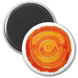 Second Chakra Healing Art #1 2 Inch Round Magnet
