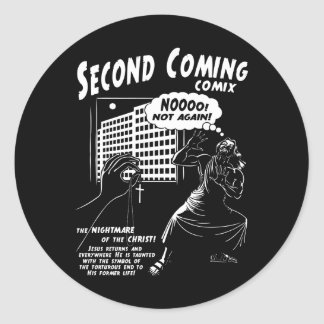 Second Coming Comix 1c Round Sticker