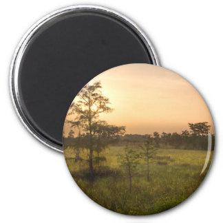 Second Dawn in Fakahatchee Strand 2 Inch Round Magnet