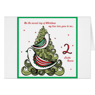 Second Day of Christmas Card