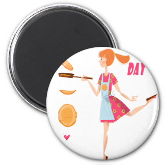 Second February - Crepe Day 2 Inch Round Magnet