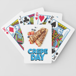Second February - Crepe Day - Appreciation Day Bicycle Playing Cards