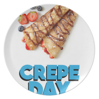 Second February - Crepe Day - Appreciation Day Dinner Plates