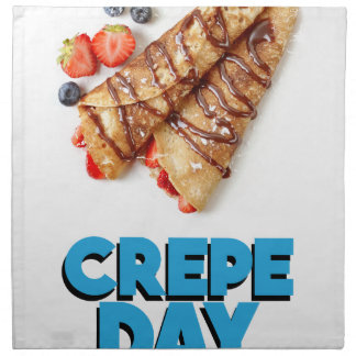Second February - Crepe Day - Appreciation Day Printed Napkins